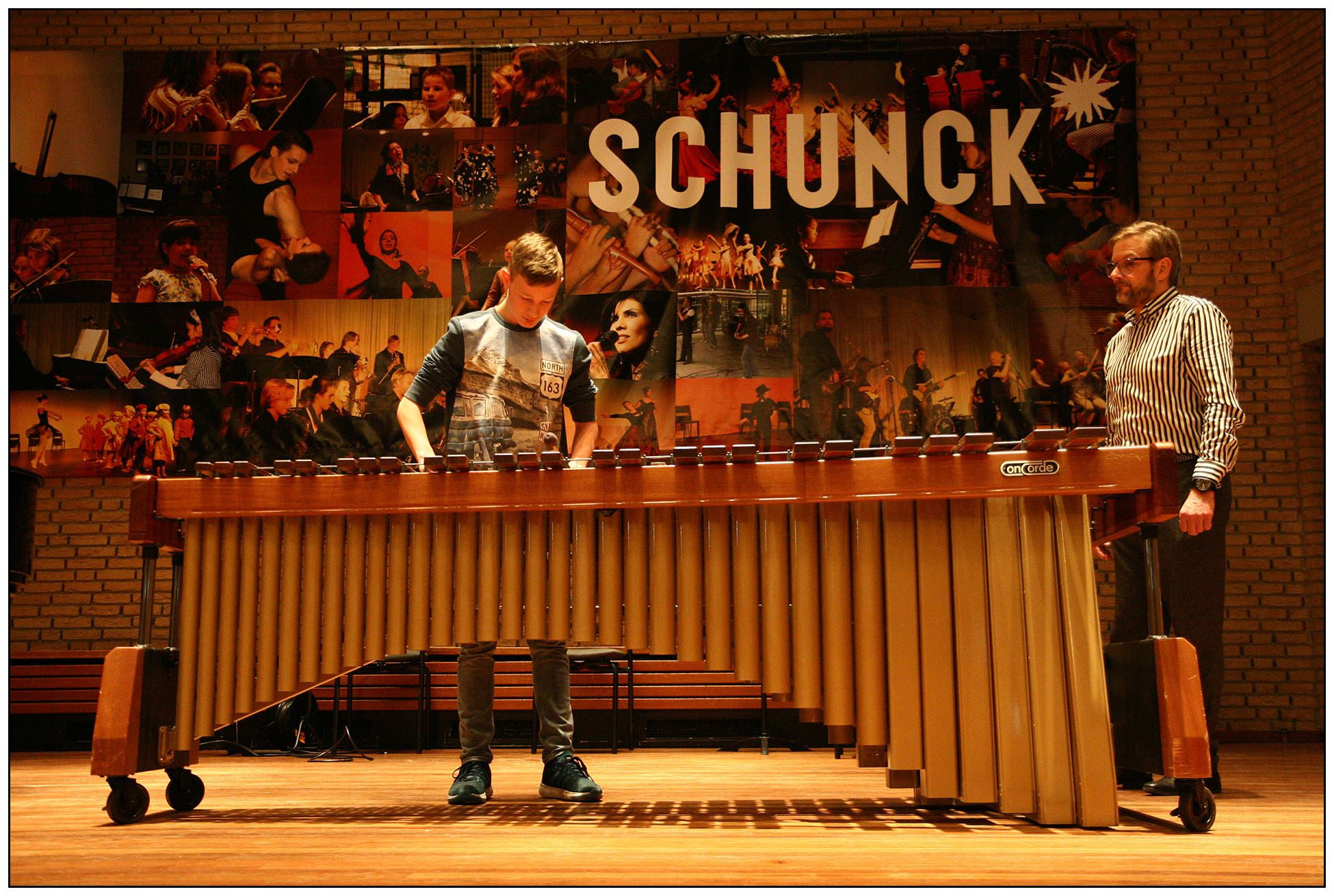 Tibor Koubek op marimba