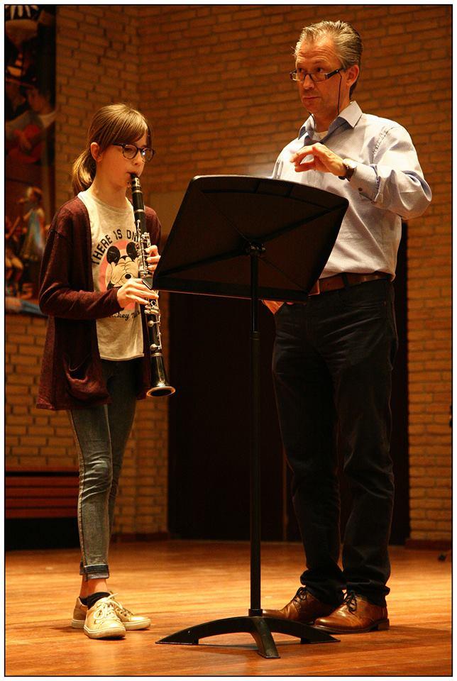 Benthe Eussen op klarinet