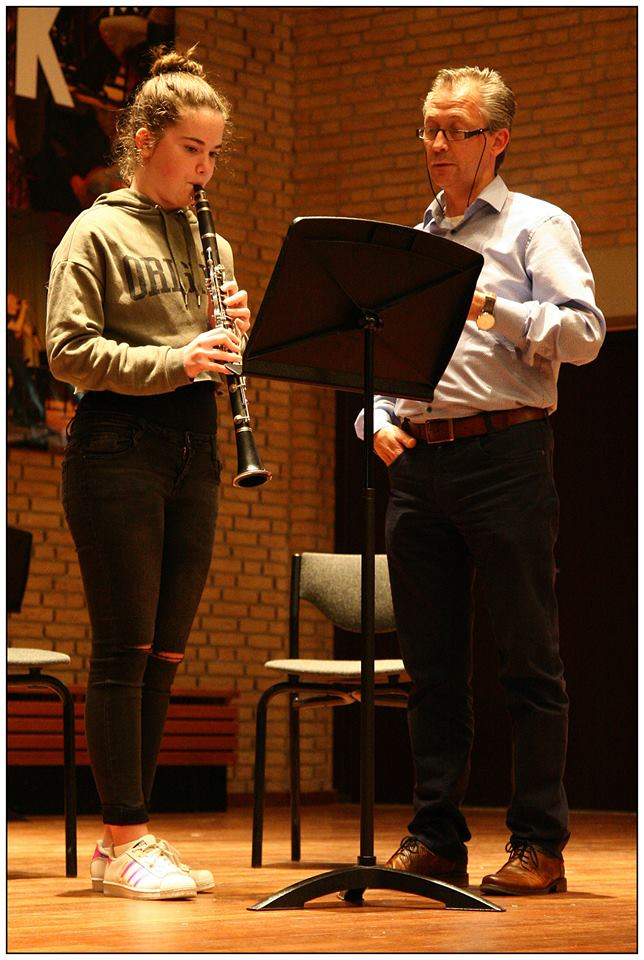 Marit Theunissen op klarinet